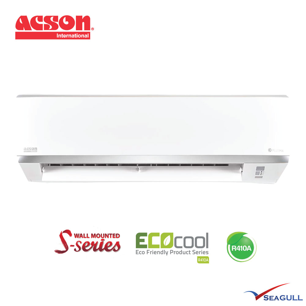 Acson S Series Wall Mounted Non Inverter 1 0hp R410a