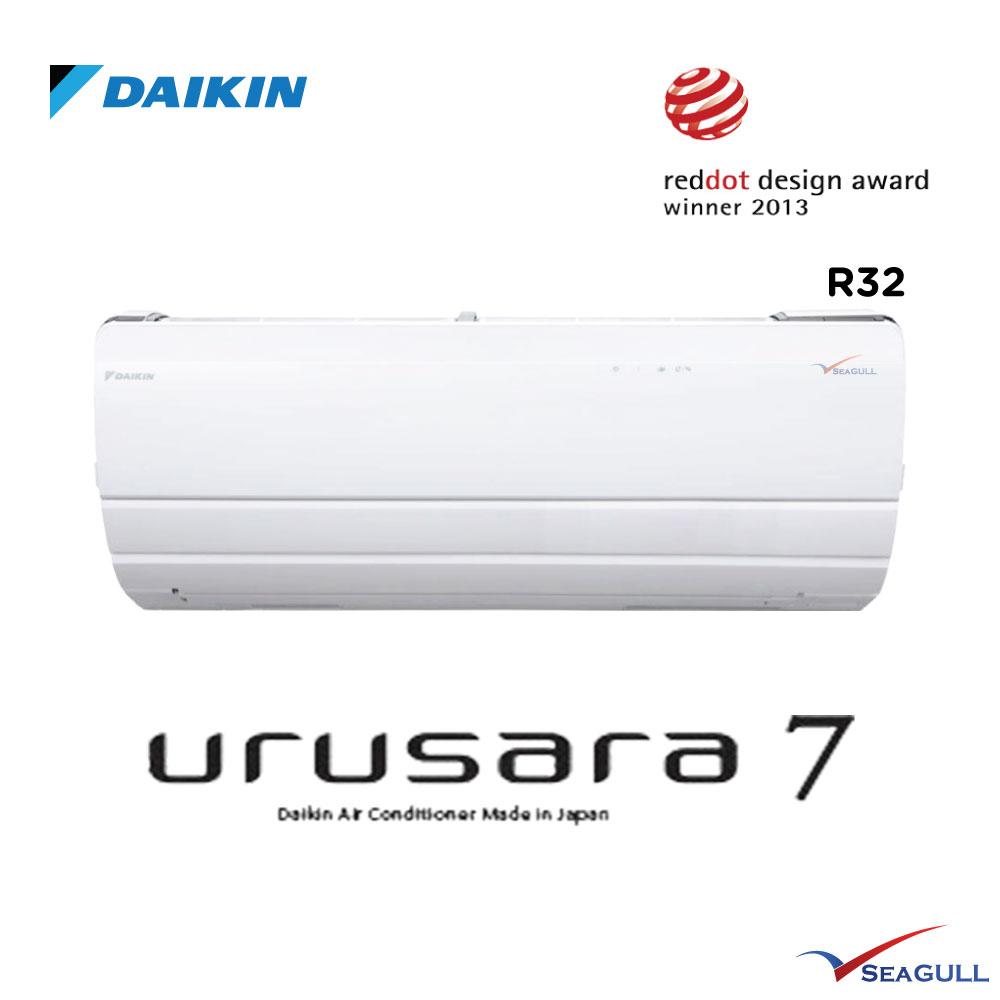 Daikin Urusara 7 Wall Mounted 1 0hp R32 Seagull My