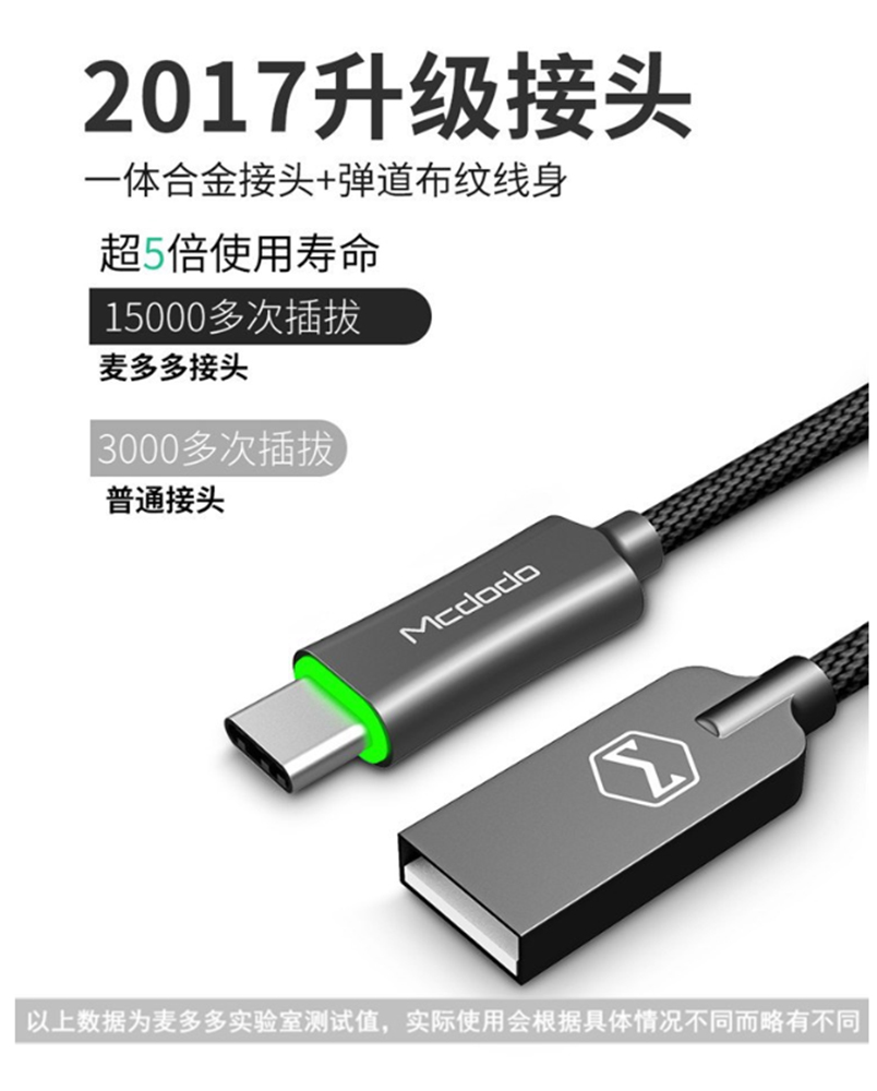Maddo Type-c intelligent power off data line QC 3_06